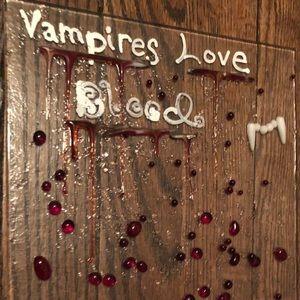 Vampire Glass wall hanging